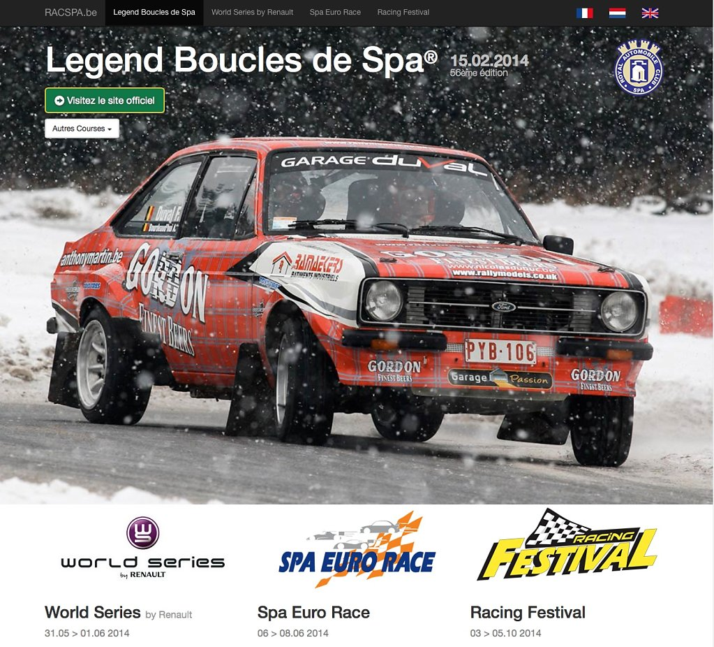 Website Legend Boucles de Spa