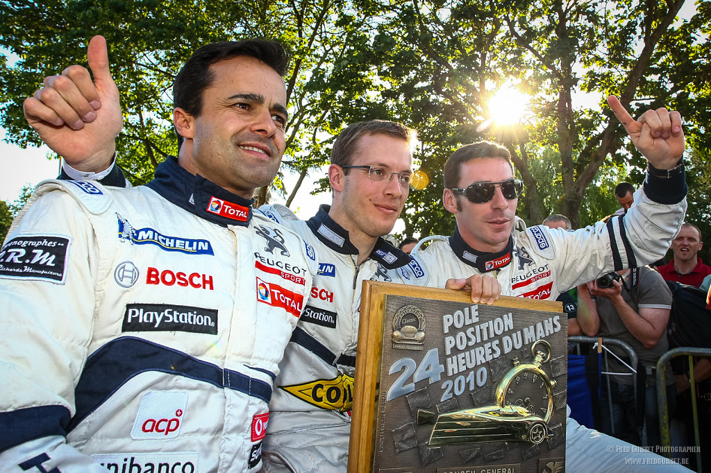 Lamy-Bourdais-Pagenaud. Pole position 24h du Mans 2010