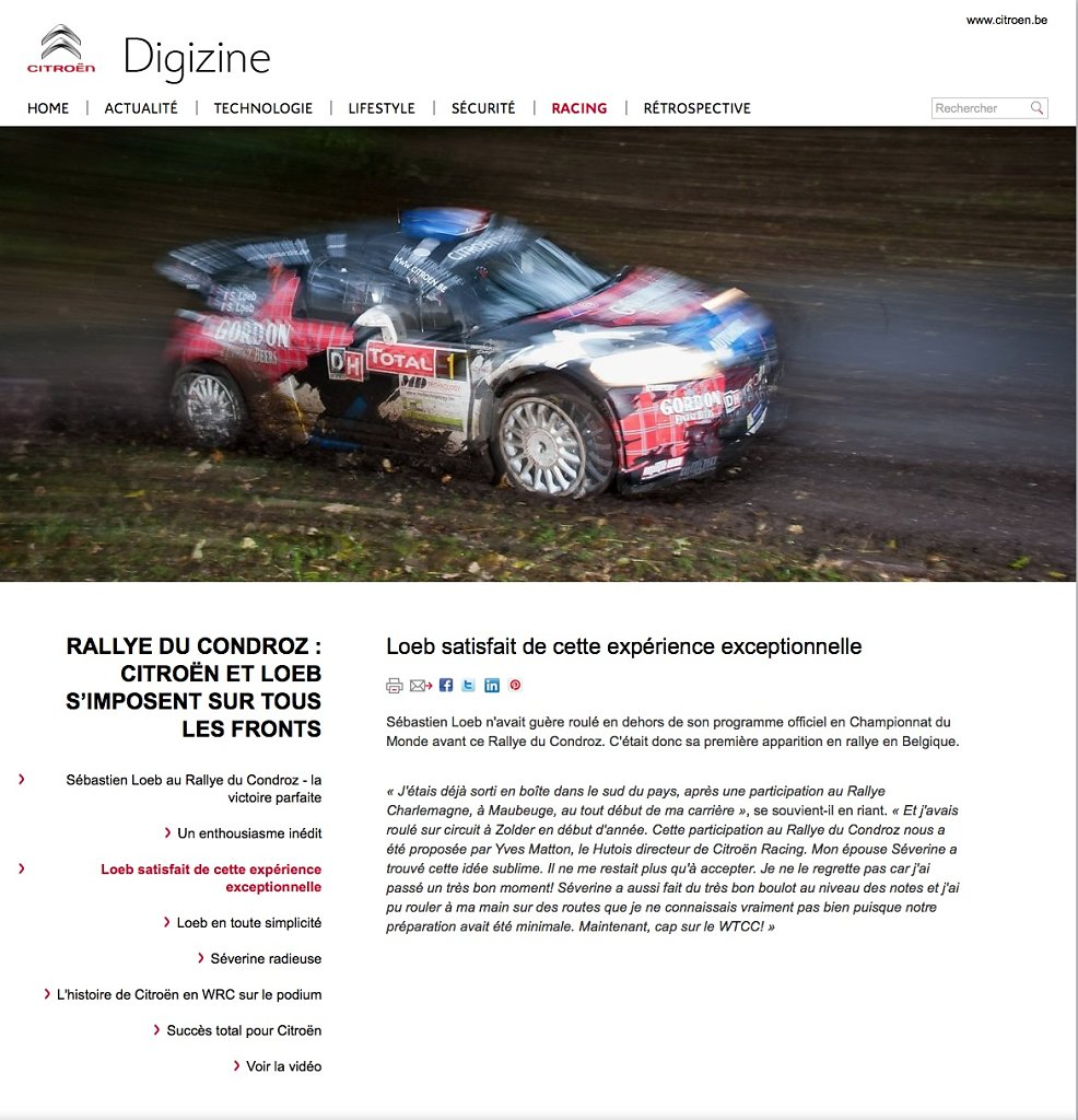 Digizine. Magazine web Citroen